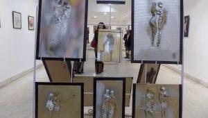 A view of the art exhibition - Art-Tech 2018.