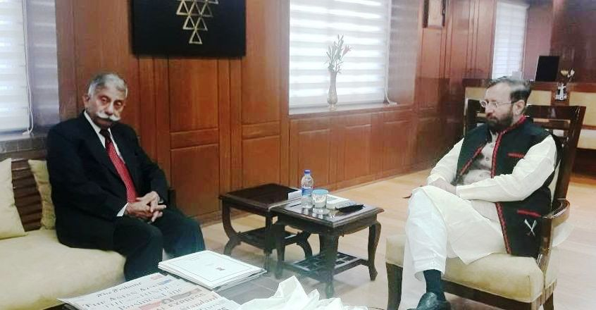 Arunachal Governot Meeting with HRD Minister (1)