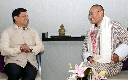 Bhutan PM with cm Assam
