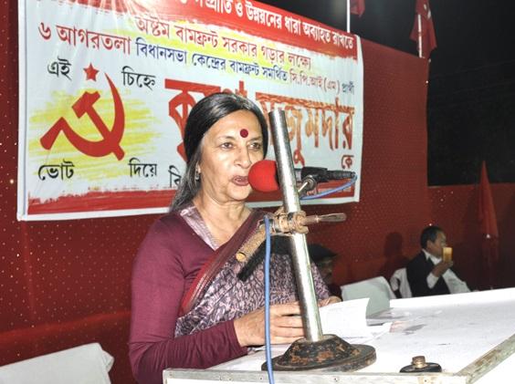Brinda karat in Tripura