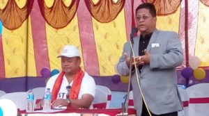 A view of the flagging off ceremony of Caravan campaign on 'Missing children linked to child trafficking' at Kokrajhar on Sunday.