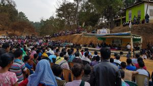 Crowd at Conrad Sangma's election rally.