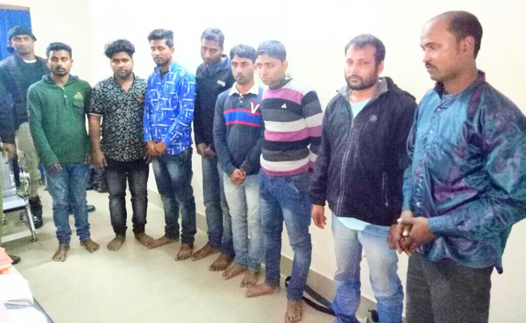 The gang of dacoits arrested in Barpeta.