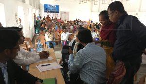 View of a free medical camp at Kokrajhar.