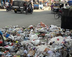 Garbage in Dibrugarh town.