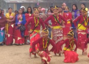 Gorkha artistes performing during the annual conference of the Asom Gorkha Khas Mahasabha.
