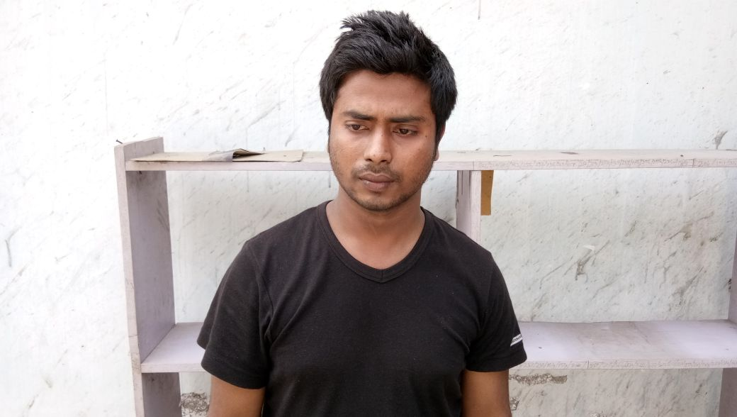 Mizanur Rahman who was arrested for being allegedly involved in a fraudulent cashless transaction case.