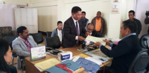 Mukul Sangma filing nomination papers for his second seat - Songsak.