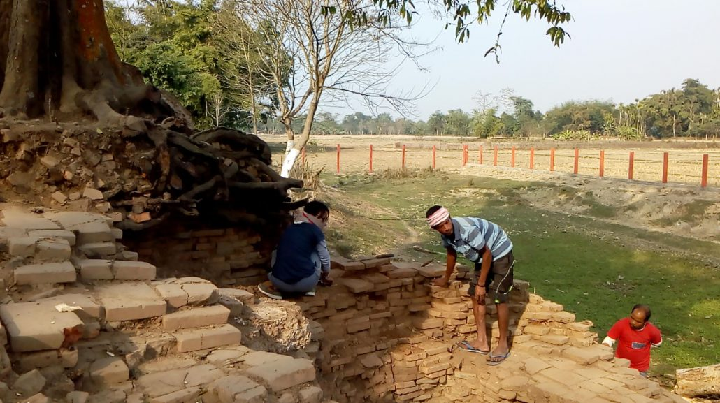 Ruins of an ancient temple found in Dibrugarh.