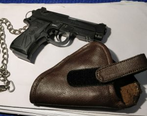 The toy gun recovered from the possession of Prince Chetri.
