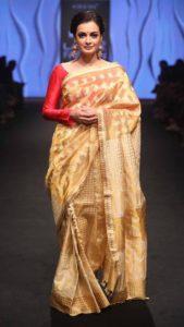 Bollywood actor walks ramp in Sanjukta Dutta's Mekhela Chador at Lakme Fashion Week 3