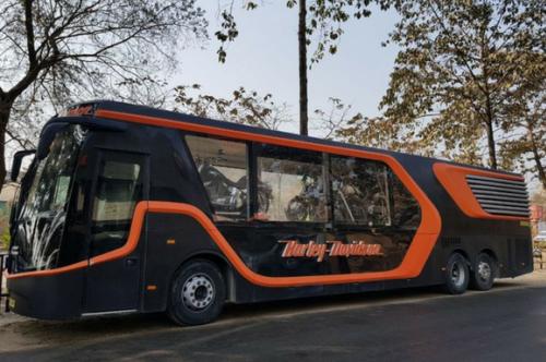 harley davidson tour bus in ghy