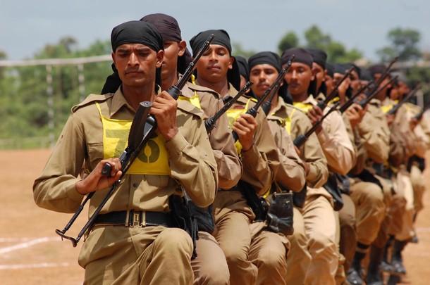 Tripura state rifle jawans NSG commando training. Guwahati, India. 09/08/2010. -- Tripura state rifle Jawans NSG commando training. Guwahati, India. 09/08/2010.