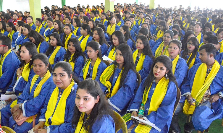 Degree holder students during 17th Convocation of Dibrugarh University.