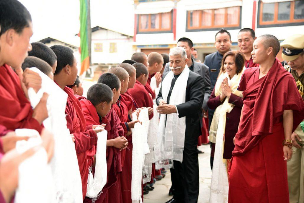 Arunachal Governor welcomed at Tawang Monastery (2)