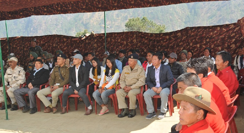Arunachal Pradesh GovernorBrig (retired) BD Mishra during his visit to Kibitho.