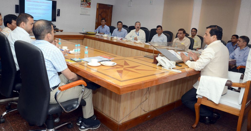 Assam Chief Minister Sarbananda Sonowal, during a review meeting of the I&PR Department.