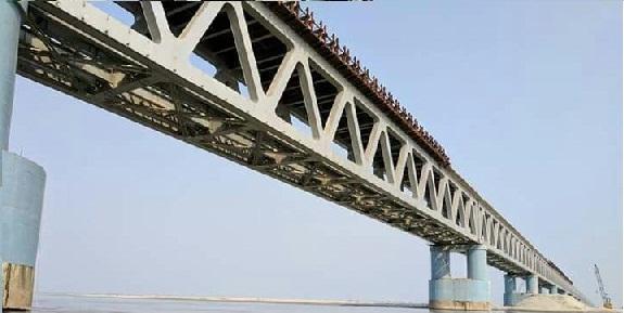 A view of the Bogibeel bridge over the Brahmaputra.