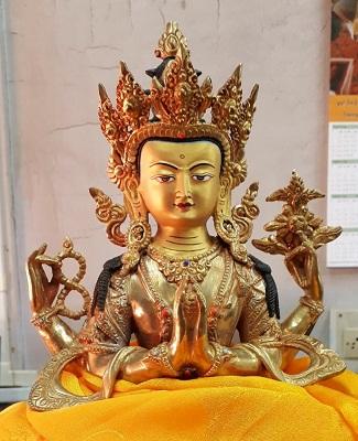 Buddhist deity Chenrezig's statute installed at Ku-Brah Mukto village in Tawang 1