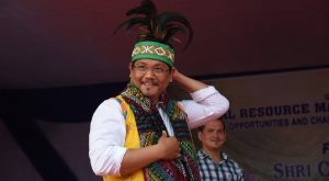 Meghalaya CM Conrad Sangma at a felicitation programme in Garo Hills.