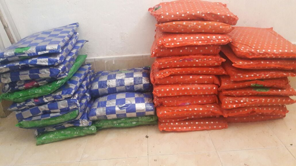 The recovered ganja packets.