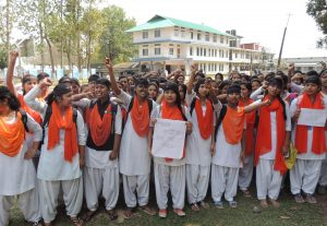 Golaghat- students protest Hemo Prova Borbora Girls College (3)