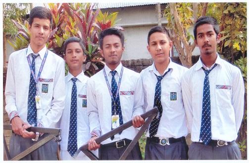 Group of award wining students