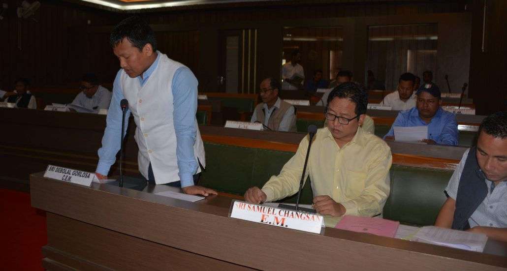 CEM Depolal Gorlosa delivers his speech in the Assemble Session on Monday.
