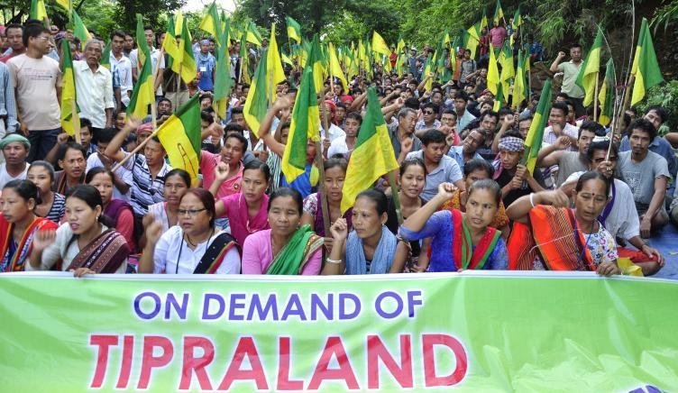 File photo: IPFT agitation for Tipraland