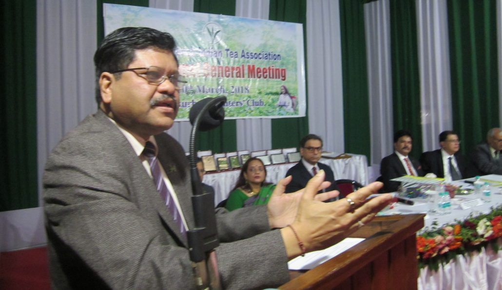 J Baruah, Chairman, Assam Power Distribution Company Limited, speaking at the ITA meet.