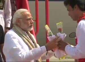 Modi received by Deb