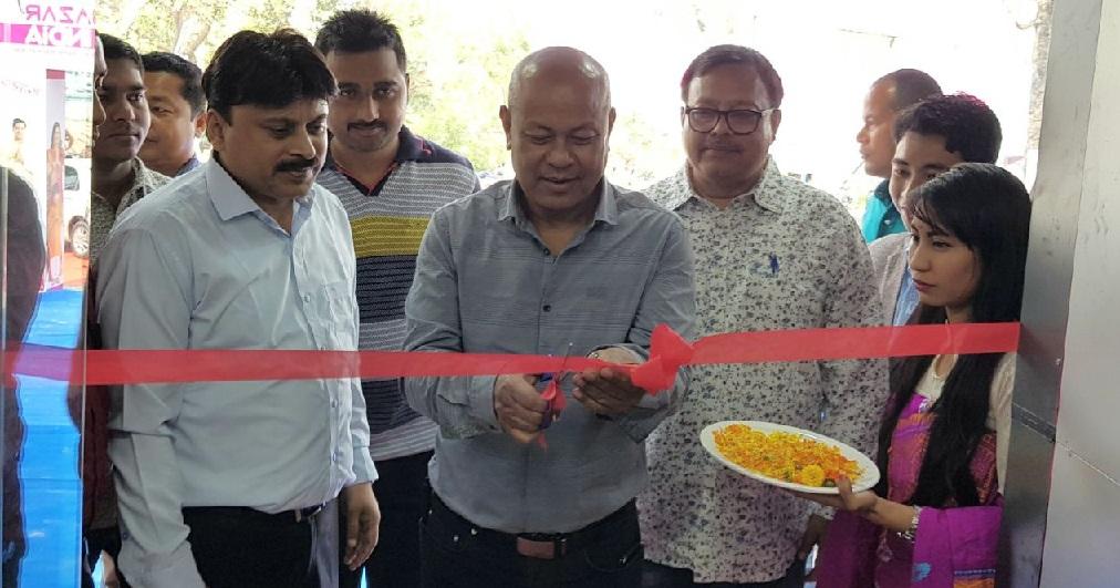 BTC Chjef Hagrama Mohilary inaugurating Bazar India shopping mall at Kokrajhar.