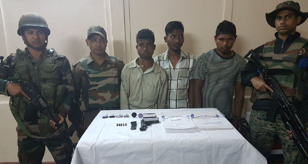 NLSA cadres nabbed with arms and ammunition in Kokrajhar.