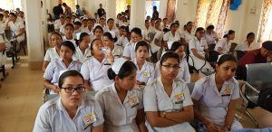 Nurses attending a function organised on the occasion of World TB Day at Kokrajhar.