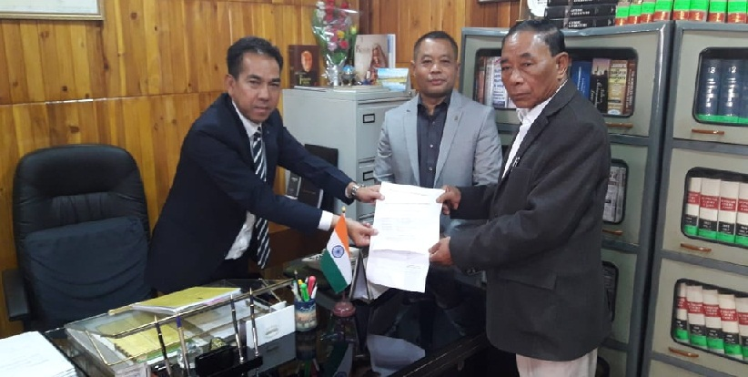 Timothy D Shira filing his nomination for election to the post of Deputy Speaker of Meghalaya Assembly. NE Now