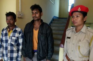 The two persons arrested by Jakhalabandha Police.