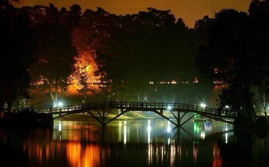 File photo: Night view of Ward's Lake in Shillong