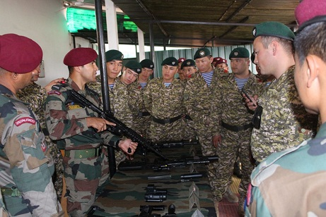 """The fifth special force joint training 'EX Khanjar"""" between Indian and Kyrgyzstan armies is being conducted at CIJW School in Vairengte, Mizoram, school from March 16, 2018. Photo: Pranab Kumar Das"""