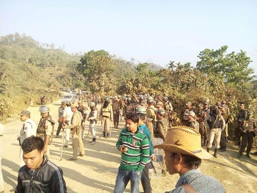 Mizoram-Assam border