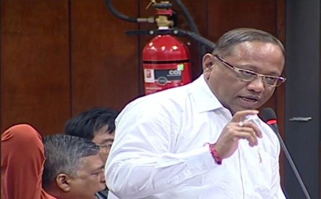 Assam PWD minister Parimal Shuklabaidya during a discussion on zero hour on March 14, 2018.