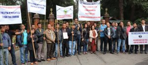Scribes take out silent march against attack on 'Shillong Times' Editor's house 1