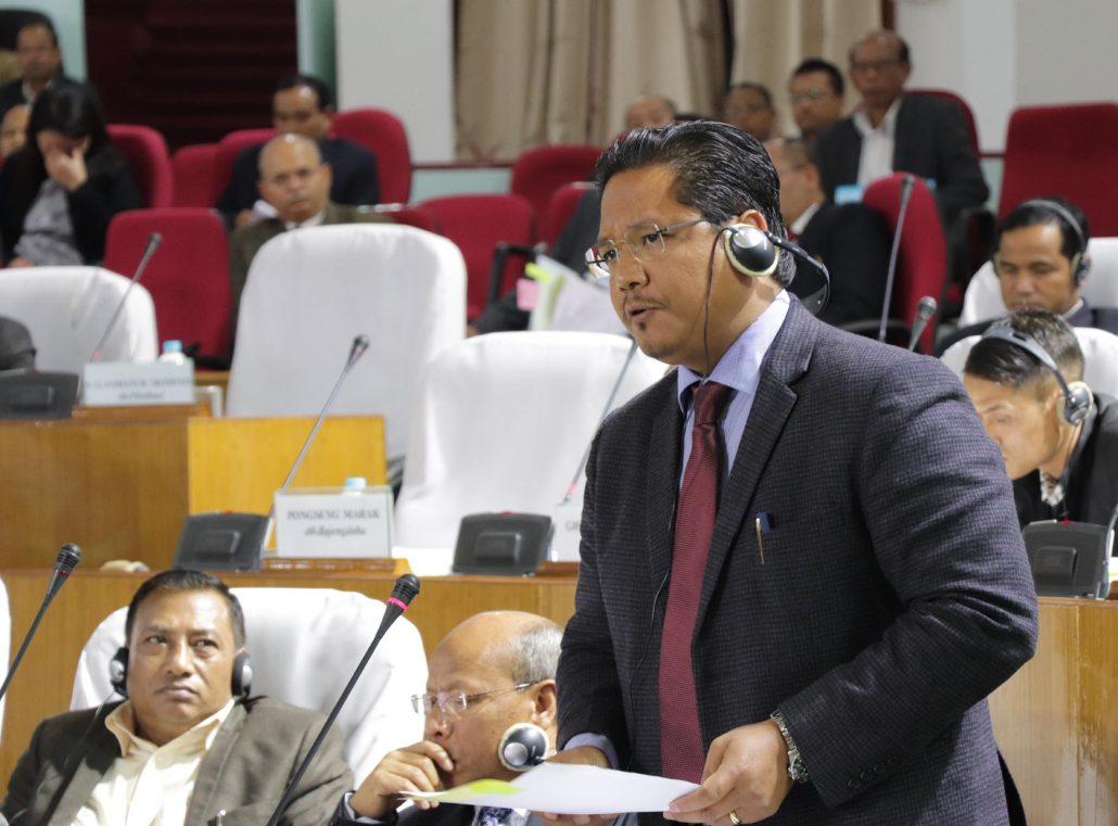 20-04-18 Shillong- Assembly Conrad K Sangma