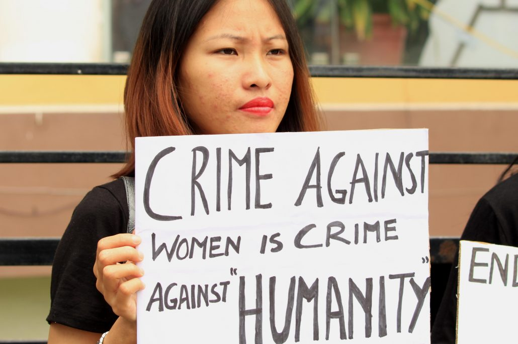 Protest against rape in Guwahati