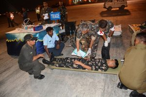IAF's Eastern Air Command conducts mass casualty air evacuation drill from Chabua Air Force Station 1