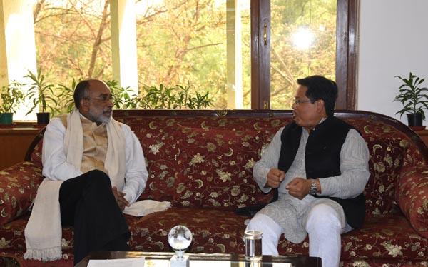 Meghalaya CM meets Union Minister KJ Alphons 1