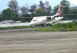 Alliance-Air's-ATR-42-plane-test-lands-at-Pasighat