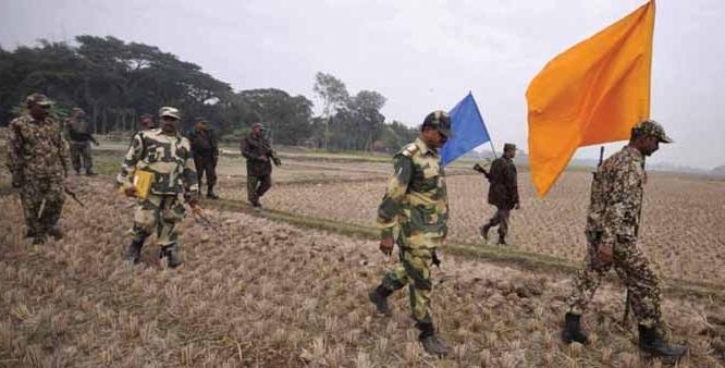 File photo: BSF, BGB joint patrolling along Indo-Bangla border.