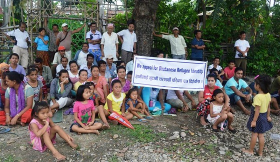 File photo: Bhutanese refugees in Nepal.  Picture credit: www.bhutannewsnetwork.com