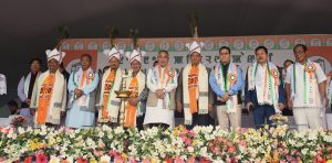 Manipur NPP's warm welcome: M'laya CM Conrad Sangma, his Cabinet colleagues felicitated in Imphal 1