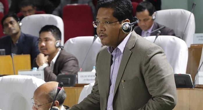 File image of Meghalaya chief minister Conrad K Sangma at Meghalaya Legislative Assembly